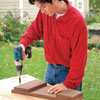 screwing boards and battens together with a drill/driver