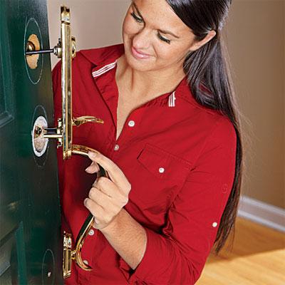 Install The Exterior Handle How To Upgrade Front Door
