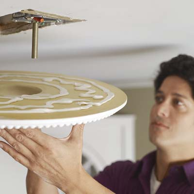 install the ceiling medallion