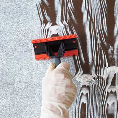 create the 'planks' for faux wood grain painting