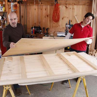 cut and attach the sheathing when building a bar