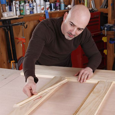miter and insert the molding when building a bar