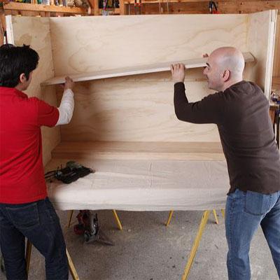 inset shelf when building a bar