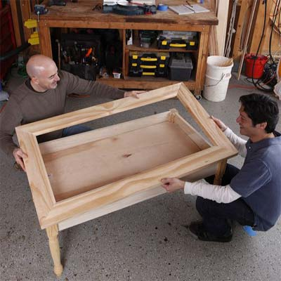 assemble the display coffee table