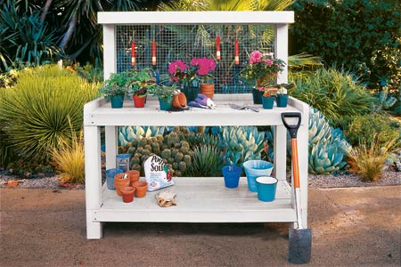 outdoor potting bench plans