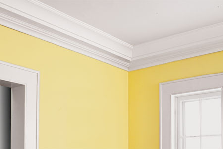 finished three-piece crown molding