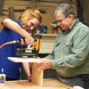 tom silva and reader assembling base and back for magazine file