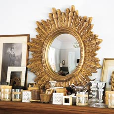 Gilded framed mirror