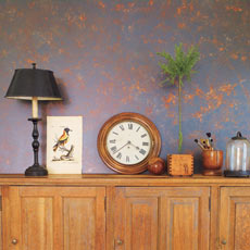 Sponge-painted interior wall