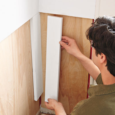 installing the wainscoting corner stiles