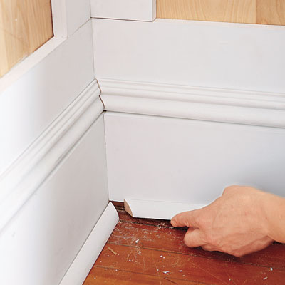 installing the wainscoting shoe molding