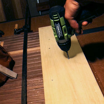 Cut two battens  to Build a Hairpin-Leg Coffee Table