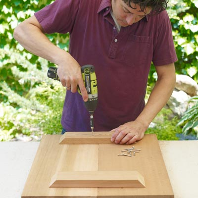 attaching the notch for the seat of a Westport chair with a drill/driver