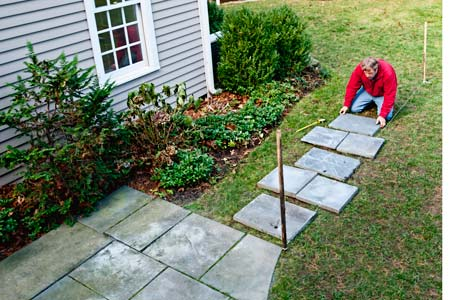 How to Lay a Stepping-Stone Path