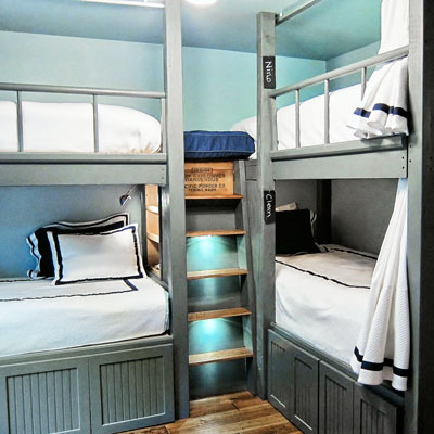 2 double-decker bunk storage beds