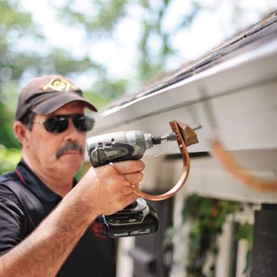 installing brackets for half-round gutters