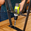 securing and fastening the table legs