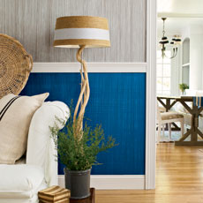 a wall painted with a faux fabric finish