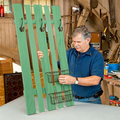 Hang the Baskets and Install the wall-mounted Coatrack