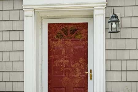 how to install front storm door 1