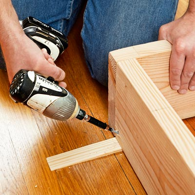 attaching the base for a columned room divider