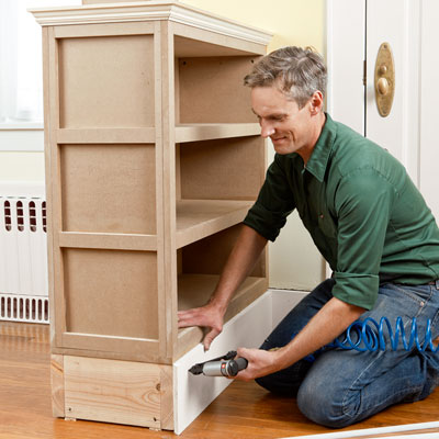 Install The Baseboard Molding How To Build A Columned