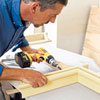 attaching crown molding to a hardwood frame for kitchen cabinet crown molding