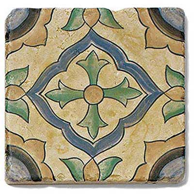 photo of art tile in San Simeon pattern 4 in Grove style