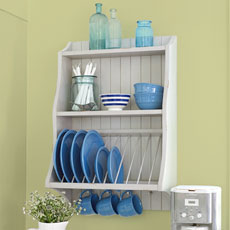 a newly built plate rack