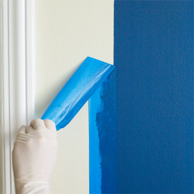 Remove the tape to Use blocks and bands of Color to Mimic the Look of Trim