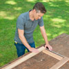 rolling outdoor grill table make sure pieces line up with dry fit