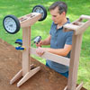 rolling outdoor grill table attach stretcher with deck screws
