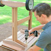 rolling outdoor grill table put legs on tabletop