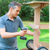 rolling outdoor grill table attach shelf brackets