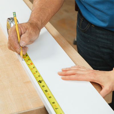 Measure the Corbel and Mark a Cut on the PVC Board to Build an Address Plaque Post