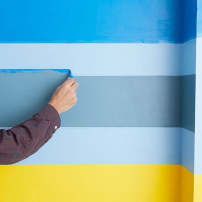 removing the painter's tape after painting