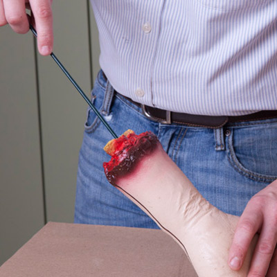 insert stake in hand for halloween zombie hand planters