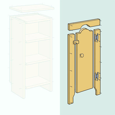 Make the face frame when building a jelly cupboard