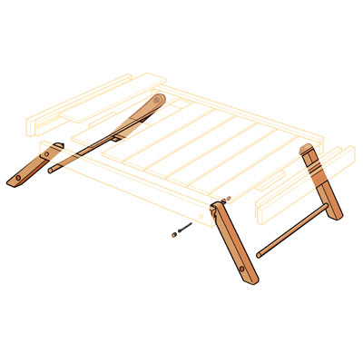 Install the Legs to Build Folding Serving Tray