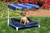 an outdoor dog bed