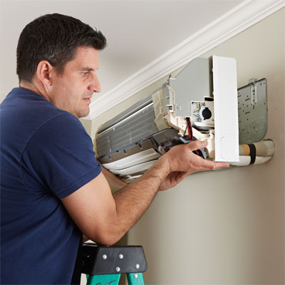 Mount The Air Handler How To Install A Mini Split Ac