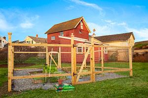 critter-proof garden fence