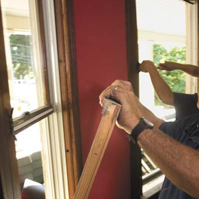 remove old sash from window frame