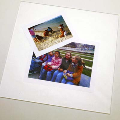 Plexiglass photo display panel ideas