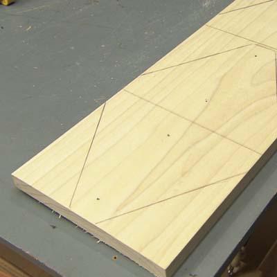 Lay out, poplar board, stilts