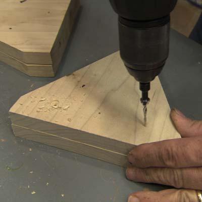 stilts, countersink bit, deck screws