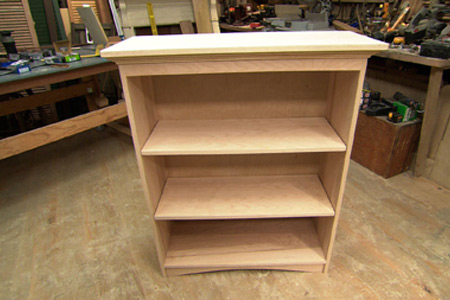 how to build a book case