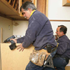 tom silva installing base kitchen cabinets with drill