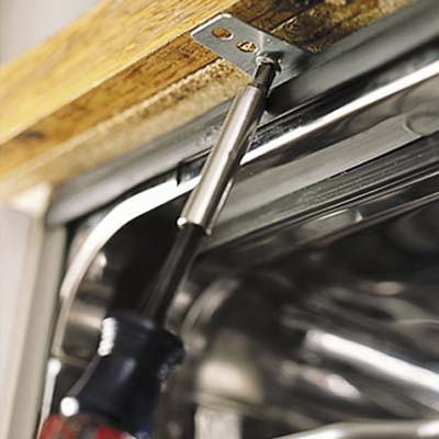 Countertop Dishwasher Hookup : dishwasher underside of the countertop How to Install a Dishwasher ...