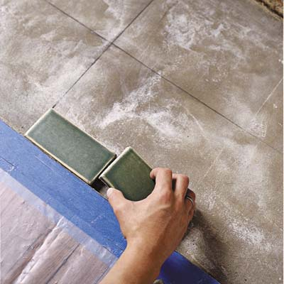 dry fit the tile